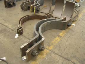 3-bolt pipe clamp in fabrication